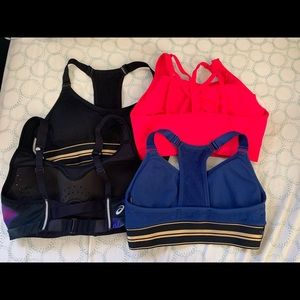 Barely used sport bra pack- Puma (3) and ASICS (1)